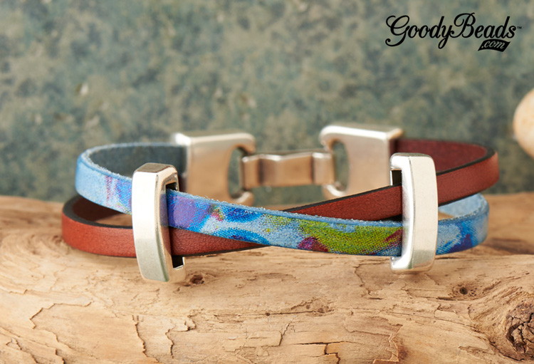 GoodyBeads| Blog Watercolor Crisscrossed Leather Bracelet