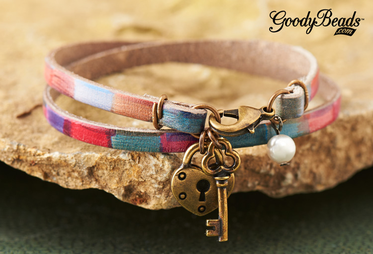 GoodyBeads| Blog Watercolor Double Rainbow Flat Leather Bracelet