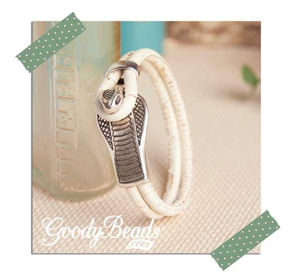 Goody Beads Cobra Round Leather Bracelet