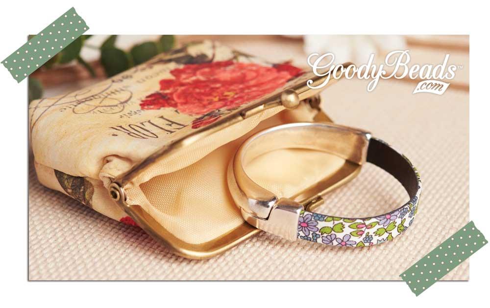 Goody Beads Flowery Flat Leather Bracelet