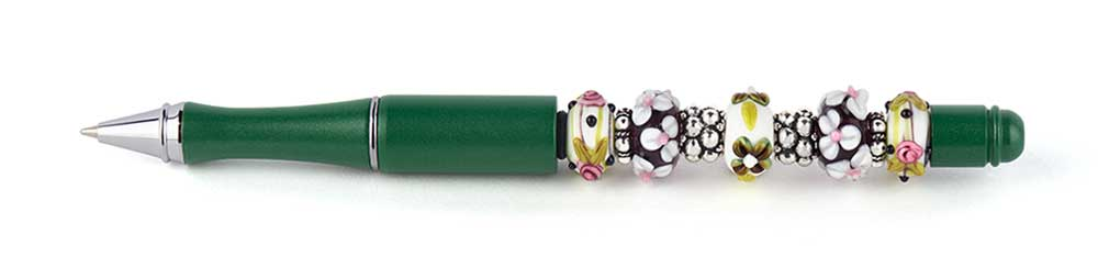 Goody Beads Green Floral Bead Pen