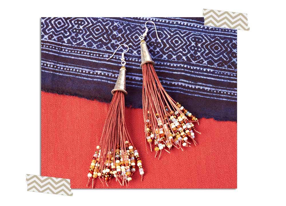 Goody Beads Blog | Beaded Tassel Earrings
