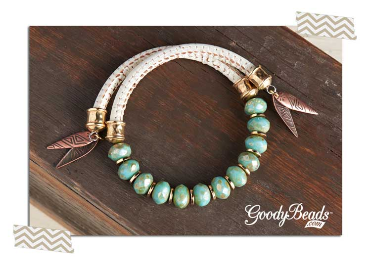 Memory Wire Leather Wrap Bracelets Goodybeads Blog