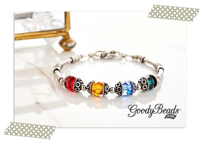 GoodyBeads.com Blog | Swarovski Bali Birthstone Bracelet