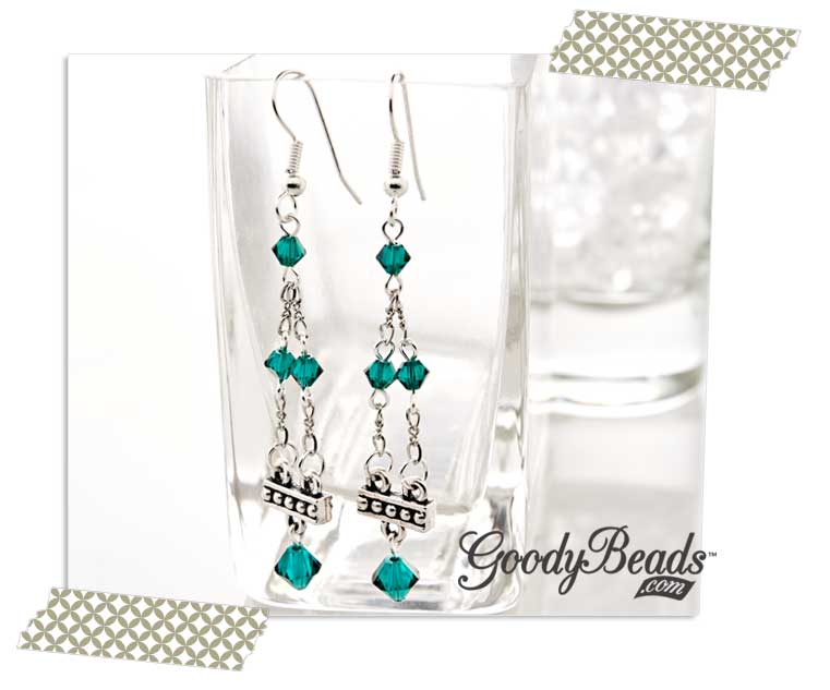 GoodyBeads.com Blog | Emerald Tier Birthstone Earrings