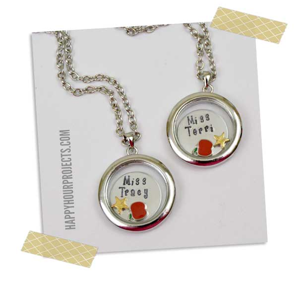 GoodyBeads.com Blog | Adrianne Locket and Metal Stamp Back to School Necklace