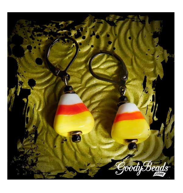 GoodyBeads.com Blog | Candy Corn Earrings