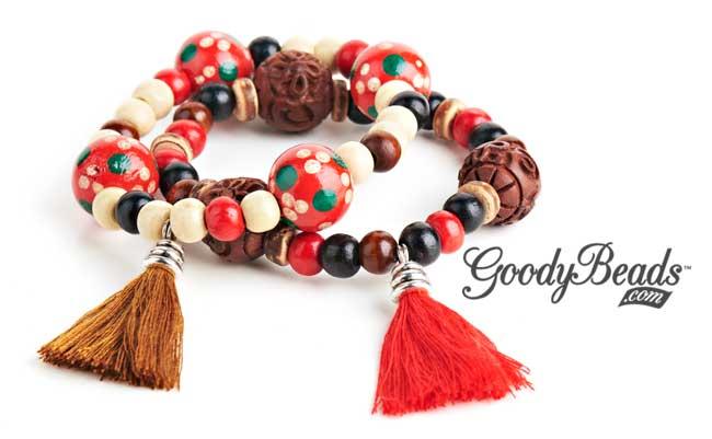 GoodyBeads.com Blog   Wood Tassel Bracelet