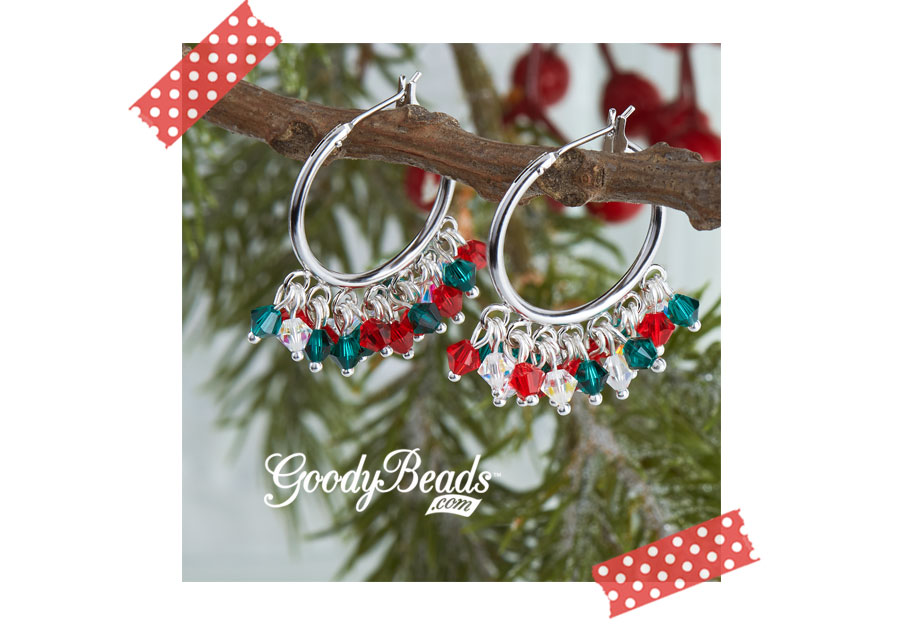 GoodBeads.com Blog Holiday Swarovski® Cha-Cha Earrings