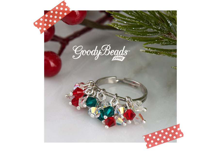 GoodyBeads.com Blog Holiday Swarovski® Cha-Cha Ring