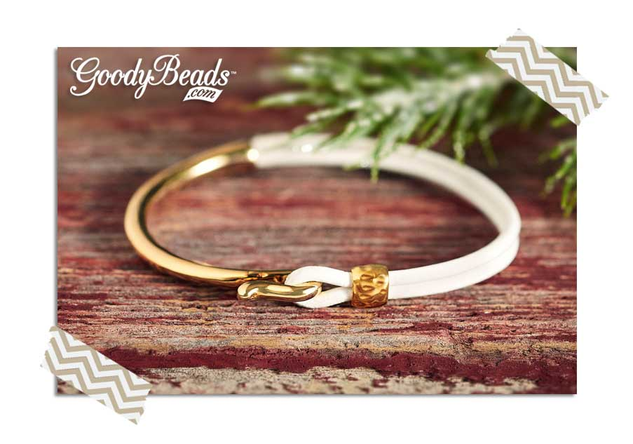GoodyBeads.com Blog | Easy Leather DIY : Winter White Splendor Leather Bracelet