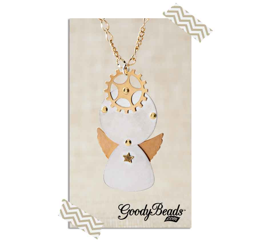 GoodyBeads.com | Blog: How to Rivet - Angel Rivet Charm Necklace