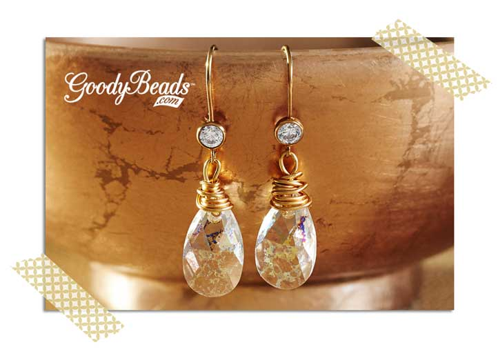 GoodyBeads.com Blog |New Years Eve Swarovski® Earrings: Crystal Drop Earrings
