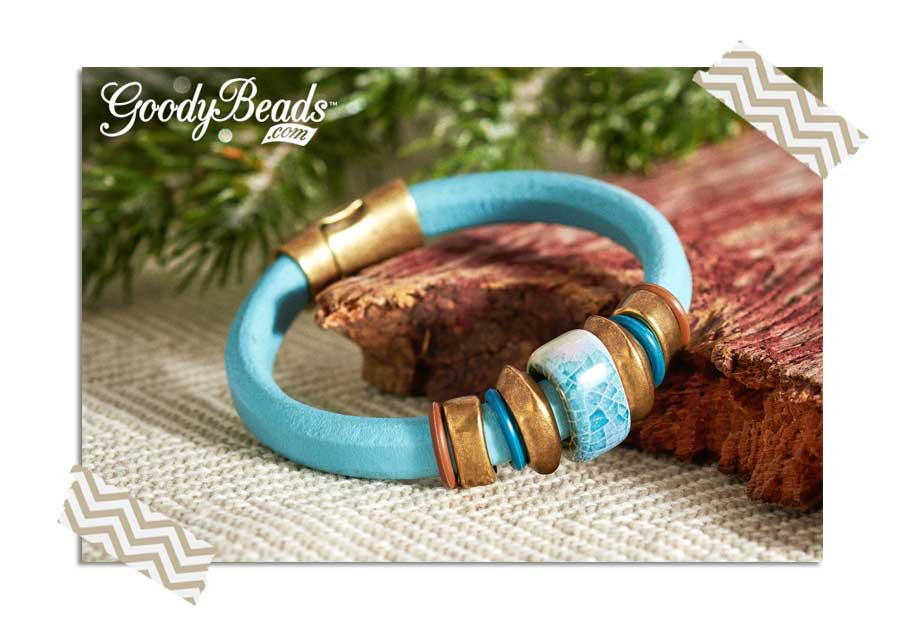 GoodyBeads.com Blog | Easy Leather DIY : Licorice Leather Bracelet