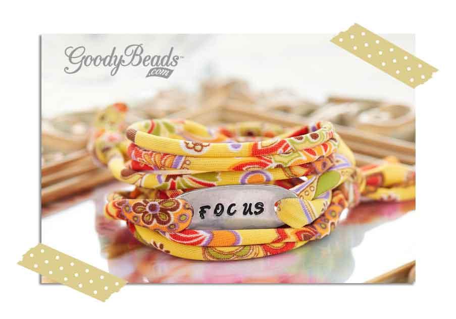 GoodyBeads.com Blog | Resolution Braceletes - Metal Stamping: Focus Wrapped Bracelet