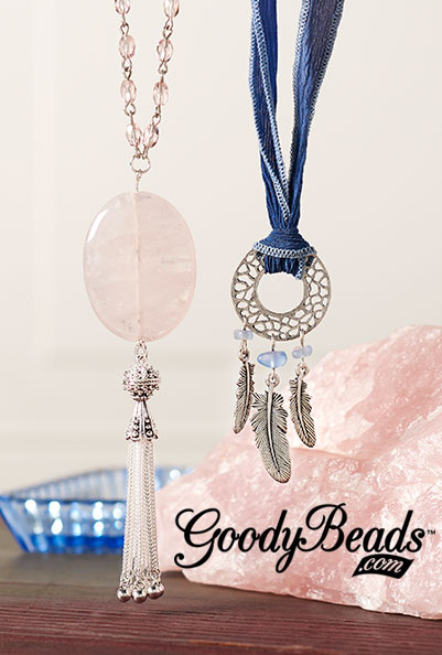 GoodyBeads.com | Blog: Color of the Year Inspired Jewelry - Rose Quartz and Serenity Necklaces