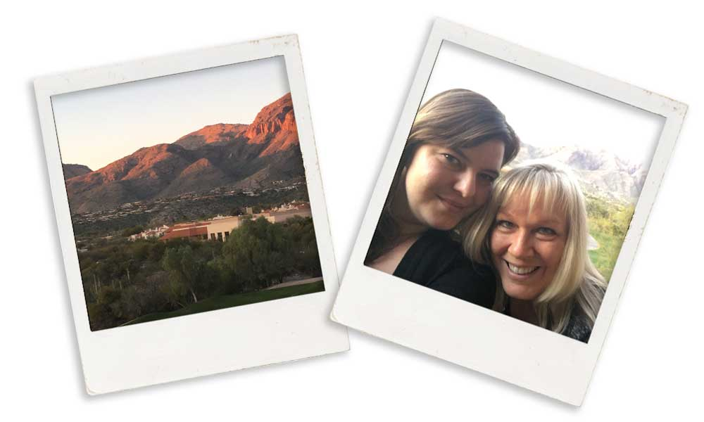 Tory and Kristal in Tuscon.