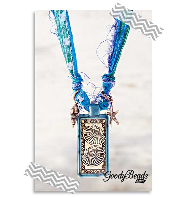 GoodyBeads.com | Blog: How to Use Silk Ribbon in Jewelry - Kristal Wick Ribbon Necklace
