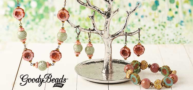 GoodyBeads.com | Blog: Spring Czech Hibiscus Flower Jewelry