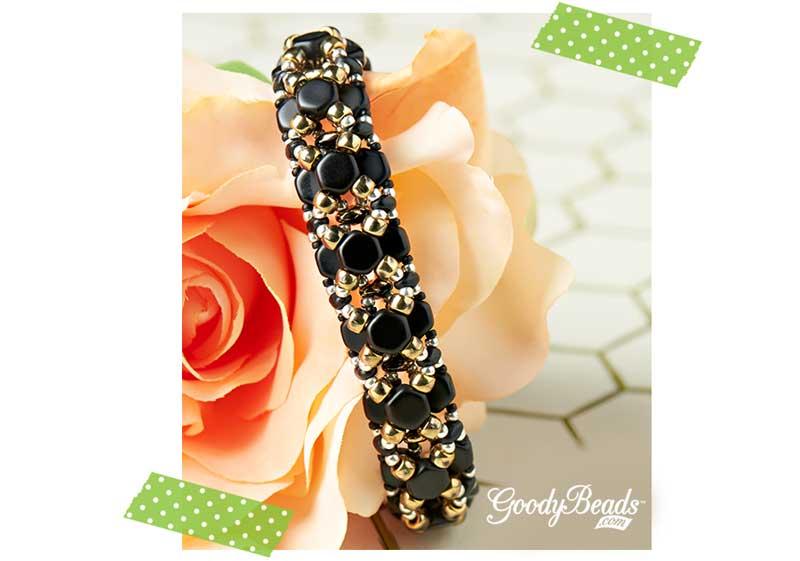 GoodyBeads.com| Blog: Czech Honeycomb Beads Bracelet Tutorial: Czech Honeycomb Bangle