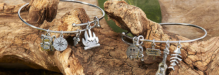 Using Jump Rings to attach charms to expandable bracelets.