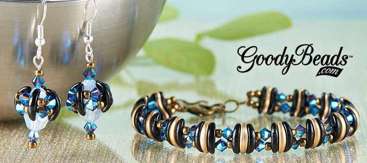 GoodyBeads.com | Blog: Czech Crescent Bracelet and Earring with Free Tutorial