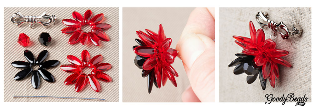GoodyBeads.com | Blog: Memorial Day DIY Jewelry – Red Poppy Pin Tutorial.