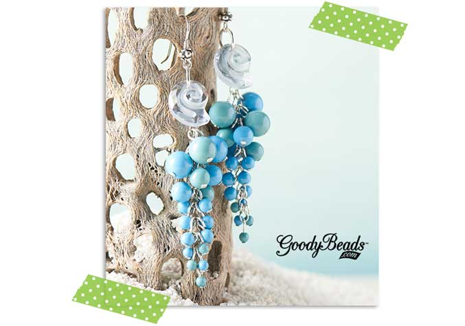 GoodyBeads.com | Blog: Summer Kits by Kristal Wick - Seashore Treasures Turquoise Earrings Kit