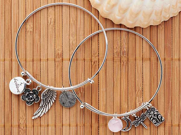 GoodyBeads.com | Blog: Customize our selection of expandable bracelets with charms and dangles.