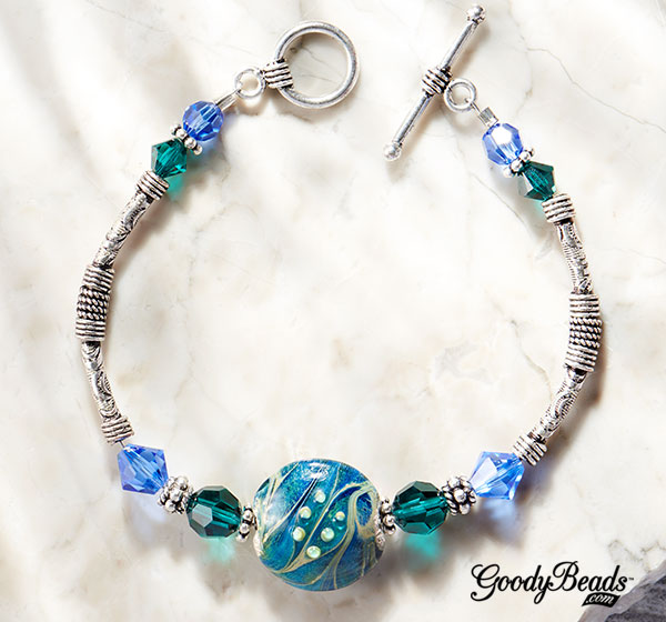 GoodyBeads.com | Blog: Lampwork Jewelry - Coastal Ripples Bracelet