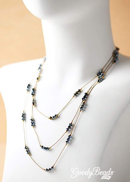 GoodyBeads.com | Blog: Use Silk cord to make knotted clusters of beads.