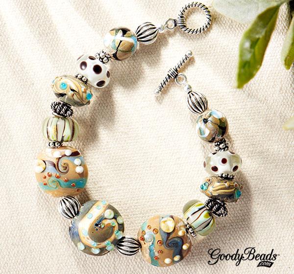 GoodyBeads.com | Blog: Lampwork Jewelry - Glass Menagerie Bracelet