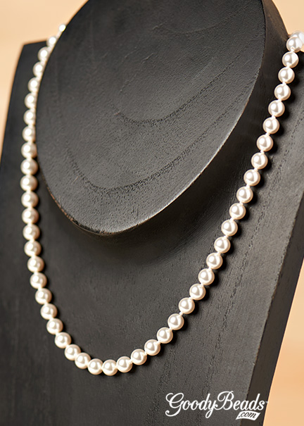 GoodyBeads.com | Blog: Make a Pearl Necklace on silk cord and knotting in between each pearl for a longer lasting necklace without the chaffing of pearls.