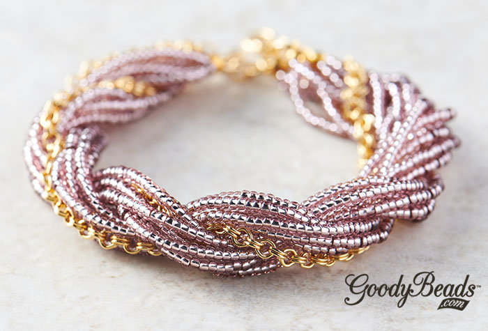 GoodyBeads.com | Blog: Twisted Seed Bead Silk Cord Bracelet