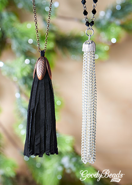 GoodyBeads.com | Blog: Make easy DIY necklaces with tassel.