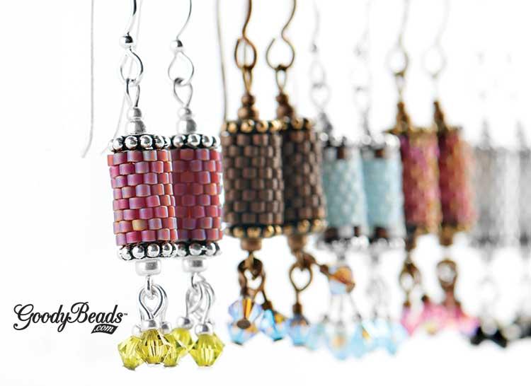 GoodyBeads | Harper Gray Peyote Earring Kits