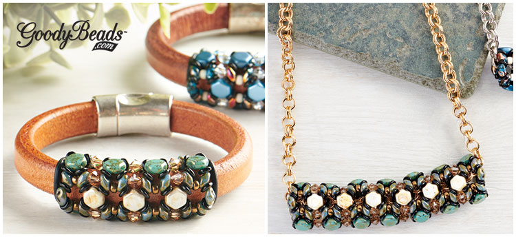 GoodyBeads | So Vang Honeycomb Leather And Chain Kits