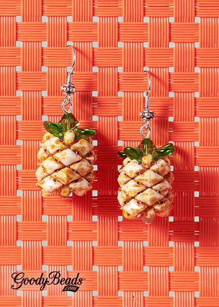 GoodyBeads | Blog: DiamonDuo Pineapple Bead with FREE Tutorial - Pineapple Paradise Earring