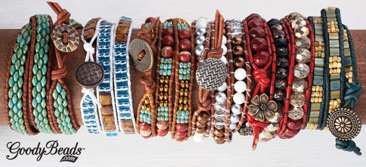 Seed Bead And Leather Weaving Kits