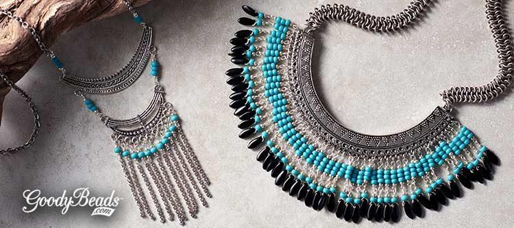 GoodyBeads | Blog: DIY Boho-inspired Bib Necklaces with FREE Tutorial