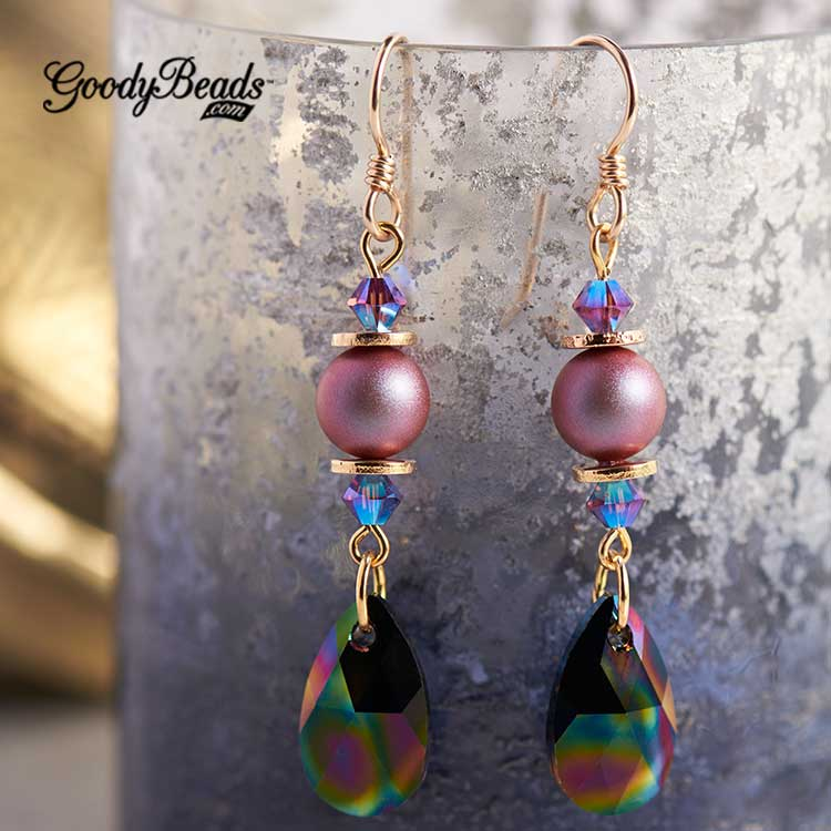 GoodyBeads | Blog: Swarovski® Fall/Winter 2017/2018 Collection: Jewelry Inspiration - rainbow pearl earring