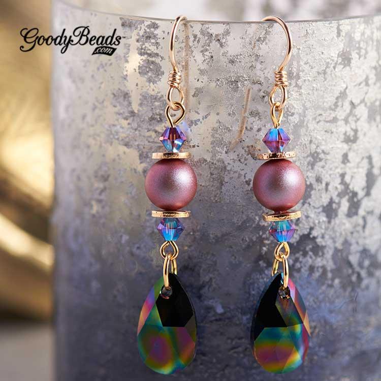 GoodyBeads | Blog: Swarovski® Fall/Winter 2017/2018 Collection: Jewelry Inspiration - rainbow pearl earring