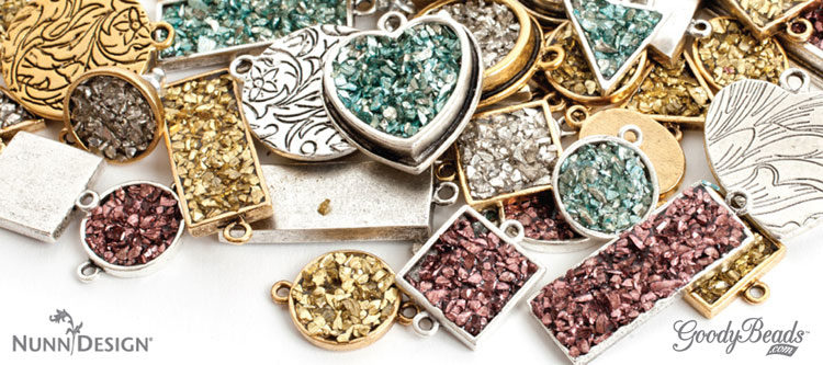 GoodyBeads | Blog: FREE tutorial on making a pendant with Nunn Design Glitter Roxs and Gel du Soleil.
