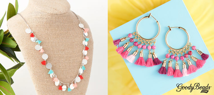 GoodyBeads | Blog: fabric tassel jewelry