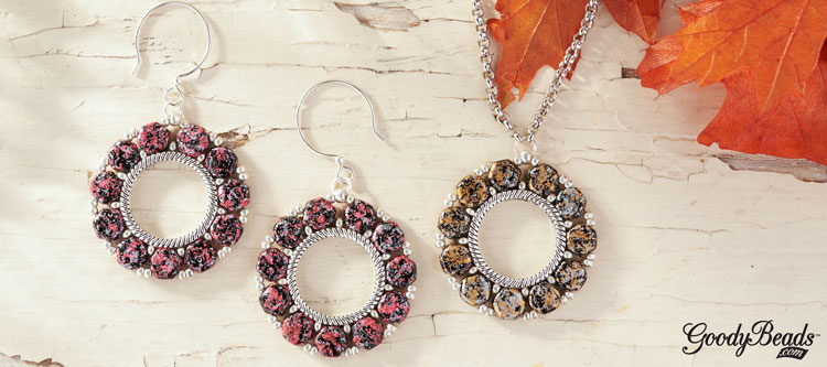 GoodyBeads | Blog: Czech Honeycomb Groovey Bead Frame Ring Pendant - FREE tutorial
