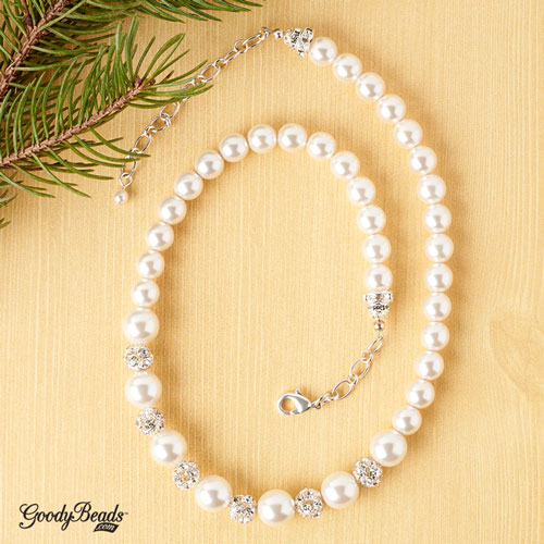 GoodyBeads | Blog: Pearl Necklace using crimp covers.