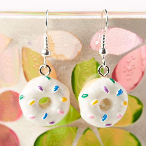 GoodyBeads | Blog: Easy DIY Charm Earrings - resin donut charm earrings