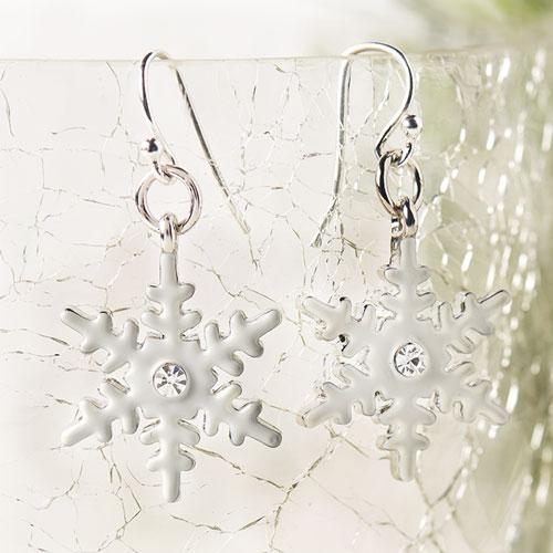 GoodyBeads | Blog: Easy DIY Charm Earrings - snowflake charm earrings