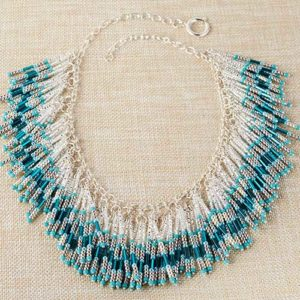 Falling Waters Seed Beaded Necklace