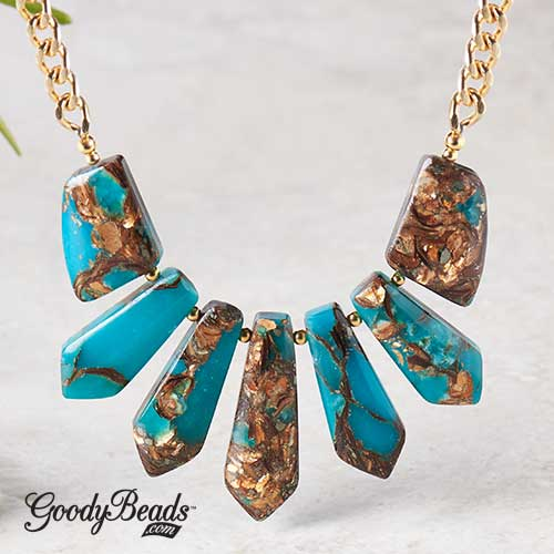 GoodyBeads | Blog: Dakota Gemstone Pendants Statement Necklace